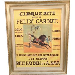 """Cirque Dete Debut De Felix Cariot"" French Paris Poster"