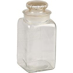 Adams Pure Chewing Gum Etched Glass Jar