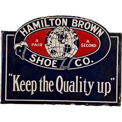 Hamilton Brown Shoe Co. Double Sided Flange Porcelain