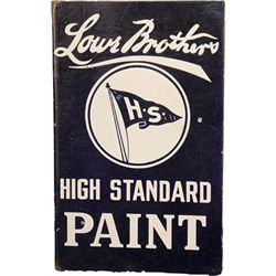 Lowe Brothers Double Sided Flange Porcelain Sign
