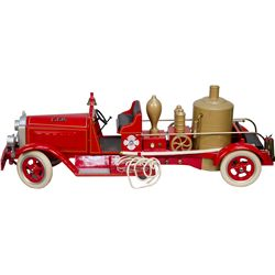 Vintage Metal Packard Fire Engine Toy Pump Truck