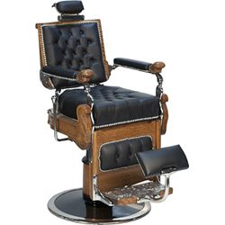 Early KOCHS Oak Hydraulic Barber Chair