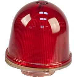 Explosion Proof Red Glass Miners Light