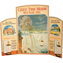 Chief Two Moon Bitter Oil Store Counter Tri-Fold Cardbo