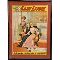 """EAST LYNNE"" The Great Emotional Drama Movie Poster"