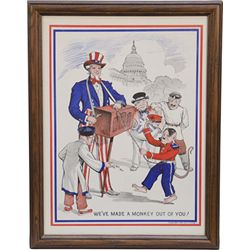 """""""We've Made A Monkey Out Of You!"""" Uncle Sam w/ Hitler"""