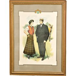 Early Sincerity Clothes Advertisement Golf Course Print