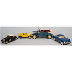 Lot Of 4 Early Tin Toy Cars: