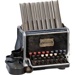 Vintage Metal Coinometer Model B Coin Sorter by Univers