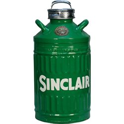 Vintage Metal Elisco 10 Gallon Sinclair Oil Can - (rest