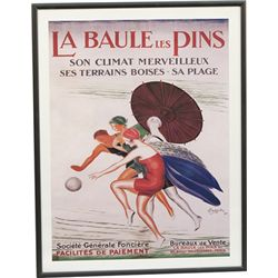 Lot Of 6 Assorted French Posters In Frames