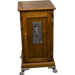Oak Slot Machine Stand w/ Nude Girl Casting On Door w/