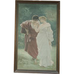 Large Canvas Print Depicting Man & Woman