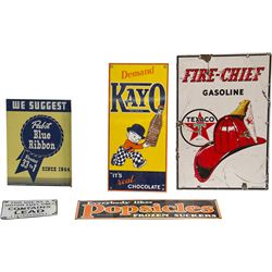 Lot Of 5 Signs, Including:  Pabst Blue Ribbon