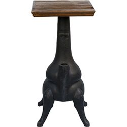 Oak Top Cast-Iron Pot Belly Stove Base Slot Machine S