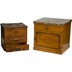 Lot Of 2 Storage Boxes/Tables: