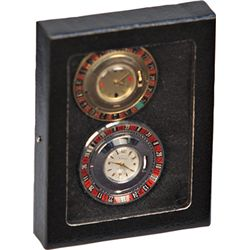 Lot Of 2 Vintage Gambling Style Roulette Watch Faces: