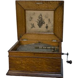Early Oak Case Regina 15-1/2  Disc Music Player