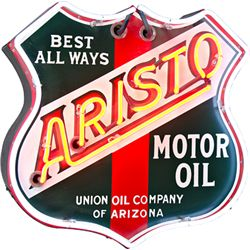 ARISTO Motor Oil  Tin & Neon Sign
