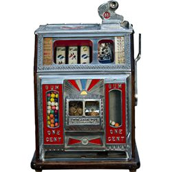 "1 Cent Watling MFG. Co. ""Blue Seal"" Twin Jackpot Slot M"