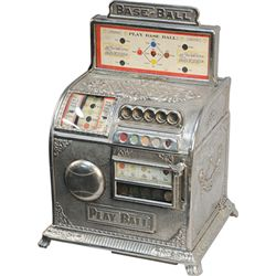 "5 Cent Caille Bros. ""Play-Ball"" 1-Reel Trade Stimulator"