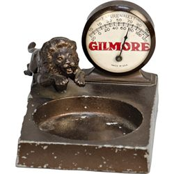 Vintage Gilmore Store Counter Metal Thermometer