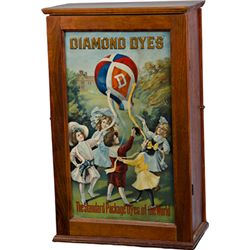 Diamond Dyes Store Counter Wood Cabinet
