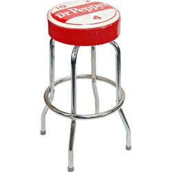 Vintage Dr Pepper Soda Fountain Counter Bar Stool