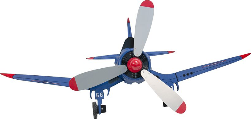 Plastic Wood Figural Airplane Wall Or Ceiling Fan