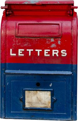 vintage cast iron us mail street letter box loading zoom
