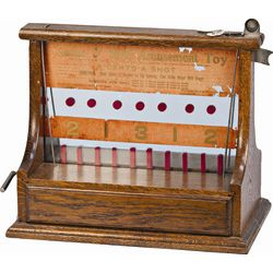 """1 Cent J.D. Latimer & Co. """"Amusement Toy Game 'O Skill"""""""