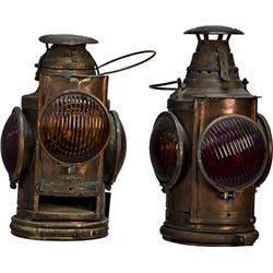Lot Of 2 Antique RailRoad Lantern's: