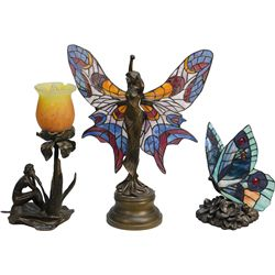 Lot Of 3 Figural Table Lamps