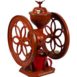 Early Cast-Iron 2-Wheel Elgin National Coffee Mill