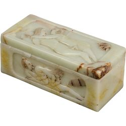 Embossed Marble Oriental  Naughty  Box