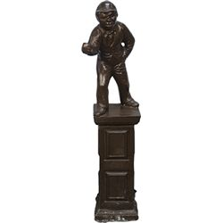 Plaster Figural Lawn Jockey Hitching Post