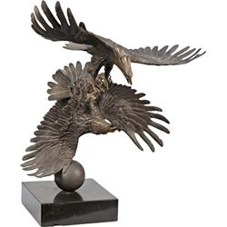 """Eagles In Fight"" Bronze Statue By Stanley Quentin John"