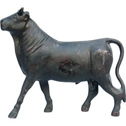 Early Cast-Iron Figural Bull Windmill Weight