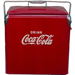 Drink Coca Cola Acton MFG. Co. Inc. Metal Picnic Cooler