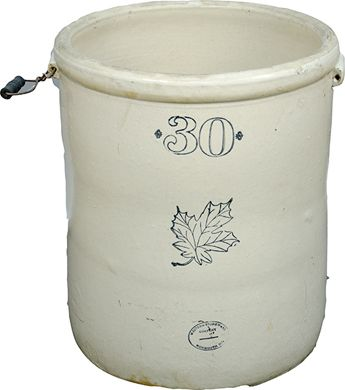 Image 1 Early Western Stoneware Company 30 Gallon Crock