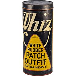 Large  WHIZ  White Rubber Patch Outfit Tin Container