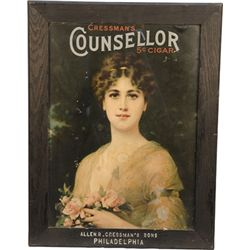 Cressman's Counsellor Cigar Advertisement Print