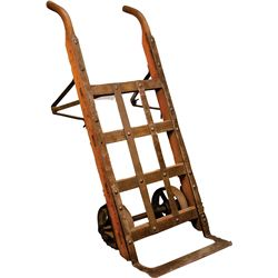 Antique Wood & Cast-Iron Hand Truck