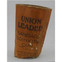 Union Leader Cut Plug Tobacco Collapsible Cup