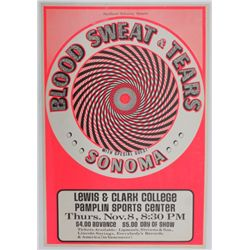 Blood, Sweat and Tears 1973 Concert Poster