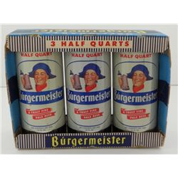 Burgermeister 16OZ. Flat Top Beer Can - 3 PAK