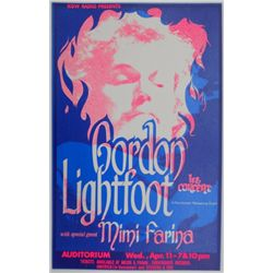 1973 Gordon Lightfoot Concert Poster - Portland, OR