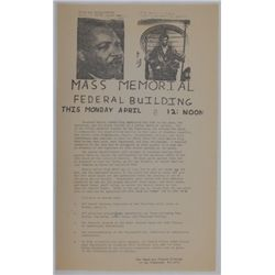 1968 Peace And Freedom Party MLK Memorial Handbill - San Francisco