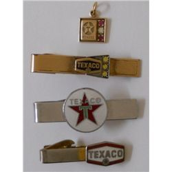 Texaco tie tabs and necklace pendant