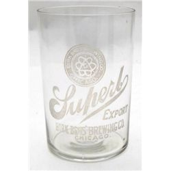 Birk Bros, Brewing Company Etched Glass - Chicago